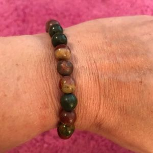 Jewelry - Beautiful Picasso Jasper Bracelet/Healing Beads